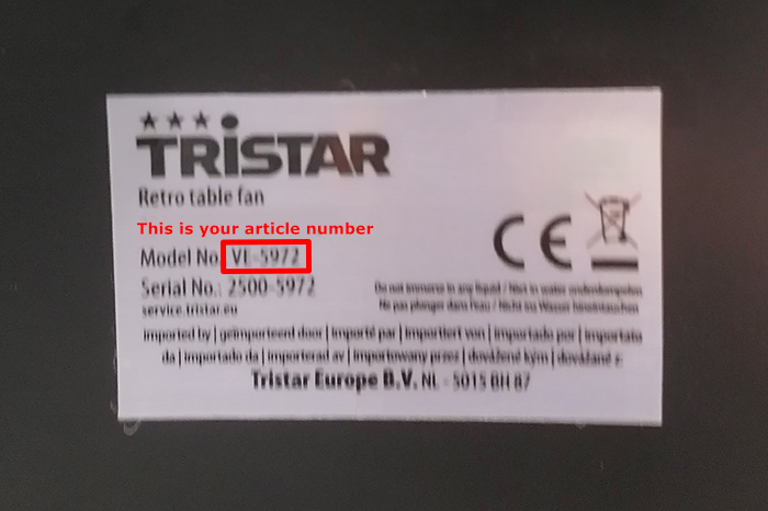 Tristar handleiding