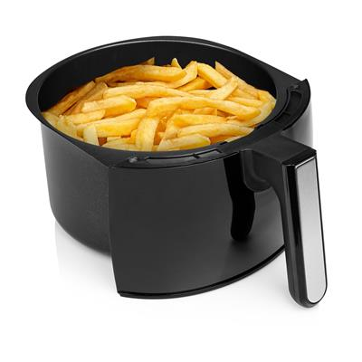 <p>The Tristar FR-6994 Crispy Fryer XXL has a volume of no less than 4.5 litres. Therefore, the air fryer has enough capacity to make fries for the whole family in one batch. You do not have to add oil, which makes it more healthy. Furthermore, the Crispy Fryer XXL is also suitable for baking, grilling or roasting all kinds of dishes.</p><p><b>Great results</b><br>The Tristar Crispy Fryer XXL has an extra large capacity with which you can bake up to 1 kilogram of fries in one batch, more than enough for the whole family. Thanks to the high speed air convection, you will have the most crunchy results without using oil or just a little bit. Therefore, the fries are less fat and more healthy. But there is more: you can also use the crispy fryer to bake, grill or roast. This allows you to easily prepare vegetables, meat and fish in the air fryer, but also cakes or pies.</p><p><b>Ease of use</b><br>The control of the Tristar Crispy Fryer is very easy thanks to the analogue control panel. By means of two turning dials for time and for temperature, you can always find the right settings for your dish. The temperature can be set from 80⁰C to 200⁰C and the timer with alarm can be set up to 30 minutes. The fryer will reach the right temperature quickly, thanks to the 1800 Watt power.</p><p><b>Easy to clean</b><br>The Tristar Crispy Fryer XXL is provided with a non-stick coating for extra ease of use and lower maintenance. Moreover, the non-stick coated inner pan and removable basket make the air fryer very easy to clean.</p><p><b>Safe to use</b><br>The FR-6994 Crispy Fryer XXL is safe to use. The air fryer is provided with overheat protection so you will not have to worry about overheating of the fryer. You can always safely touch the basket, thanks to the cool touch handle. Finally, the crispy fryer will always stand firmly on your countertop thanks to the non-slip feet.</p><p><b>What's in the box?</b><br>Tristar Crispy Fryer XXL, removable basket, instruction manual</p><p><b>Reasons to choose the Tristar FR-6994 Crispy Fryer XXL:</b><ul><li>The Crispy Fryer XXL is suitable for the whole family, thanks to its very large capacity of 4.5 litres</li><li>The high speed air convection allows you to fry, grill, roast and bake</li><li>Thanks to the high speed air convection, you will have the most crispy results even without using oil</li><li>Extra safe to use because of the overheat protection, cool touch handle and non-slip feet</li><li>Easy to control through the analog control panel with turning dials for time and temperature</li></ul>