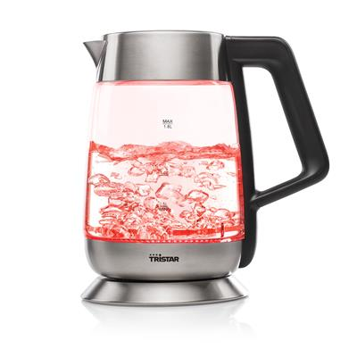 Tristar WK-3375 Glass kettle with multi-color LED and thermostat